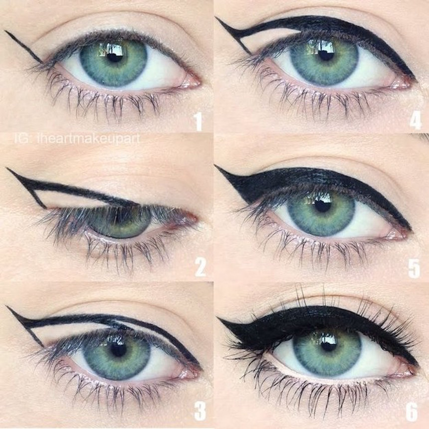 Как нарисовать кошачий глаз стрелки