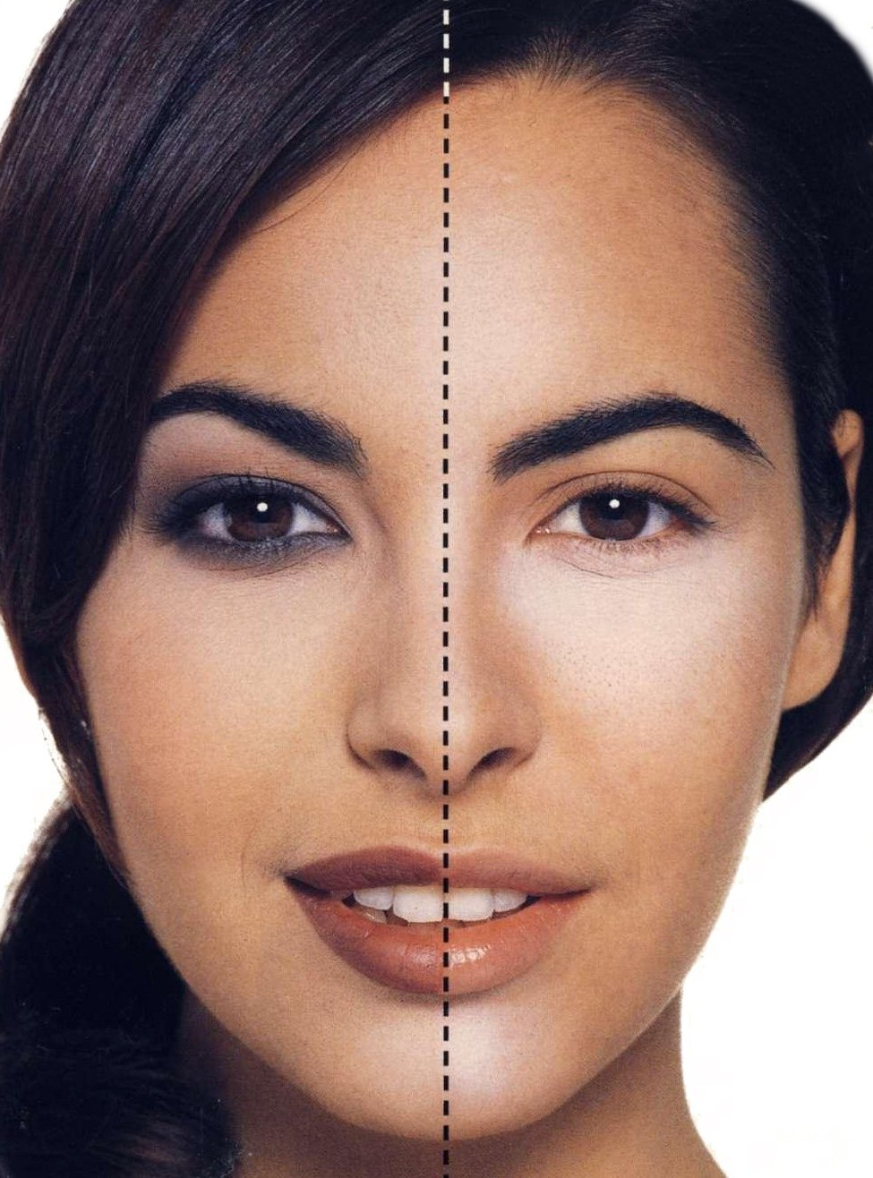 Скрыть обвисшие веки макияжем