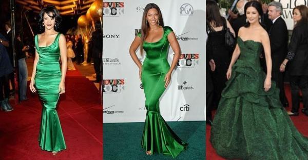 Вечерний макияж под зеленое платье с