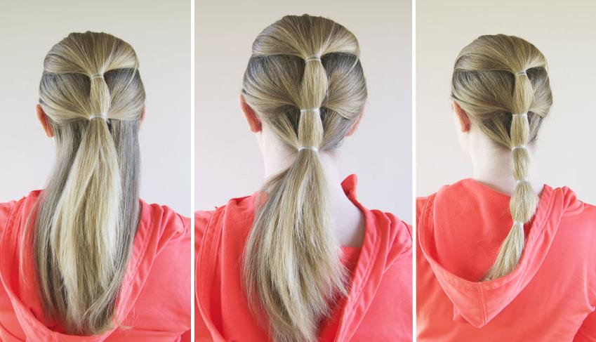 Как сделать прически для волос с резинками 309