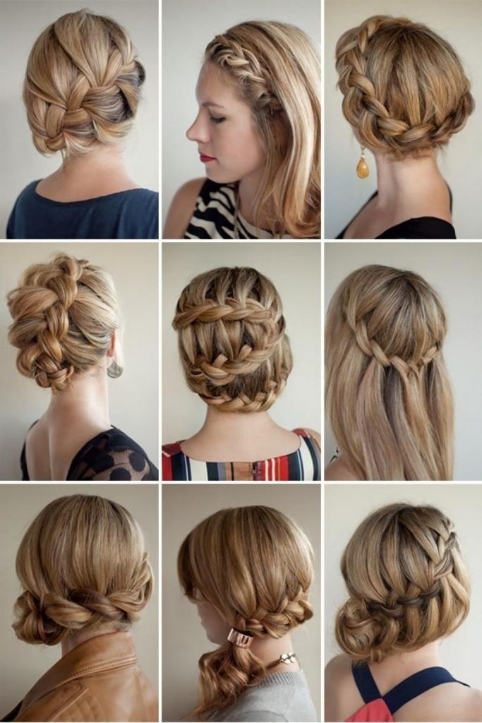 Прически косами на средние волосы