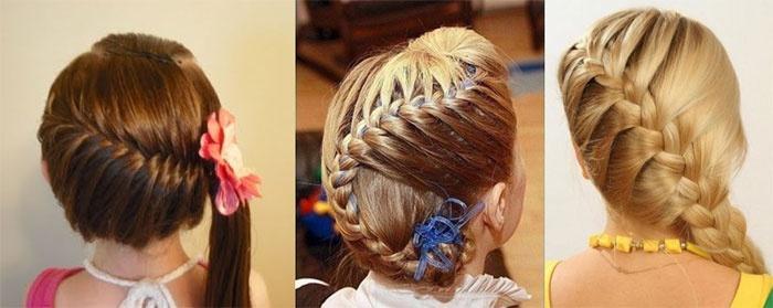Причёска на бок для девочки фото
