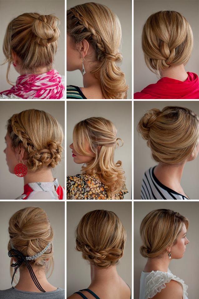 Повседневные причёски на средние волосы своими руками быстро фото 68