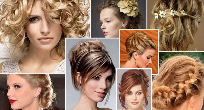 Причёски для торжества на средние волосы