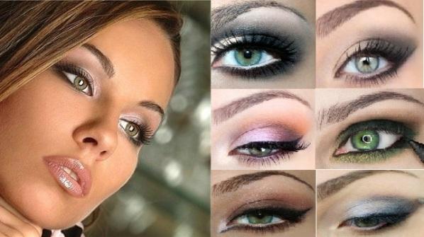 Макияж для темных волос и зеленых глаз фото