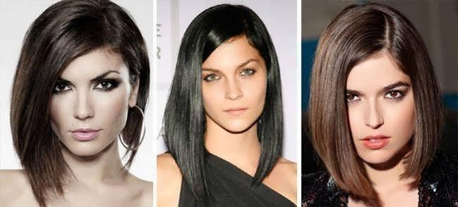 Асимметрия на длинные волосы фото